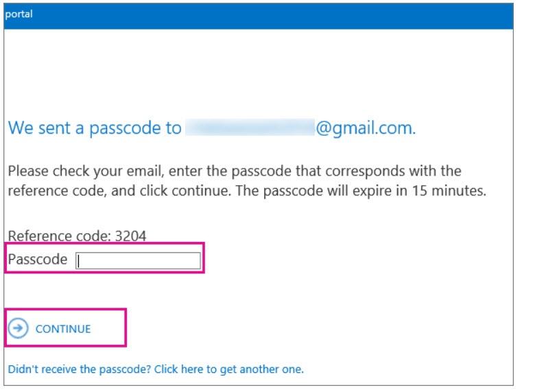 Anmeldung am Verschlüsselungsportal zum Öffnen der E-Mail mit One-Time Passwort (Quelle: TechNet.microsoft.com)