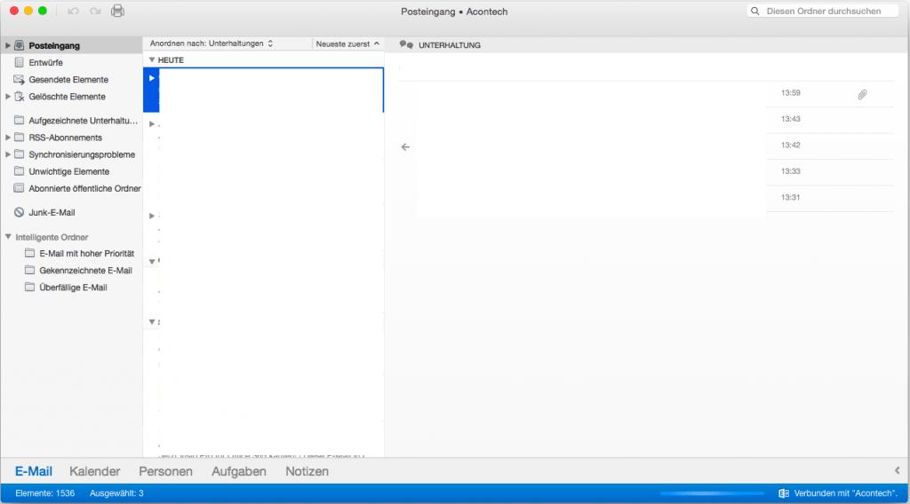OSX Outlook Freigegebene Postfächer 1