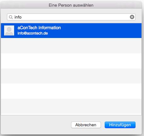 OSX Outlook Freigegebene Postfächer 5