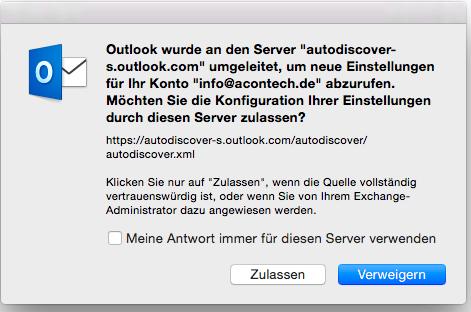 OSX Outlook Freigegebene Postfächer 7