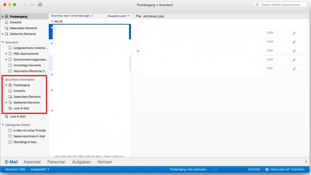 OSX Outlook Freigegebene Postfächer 8