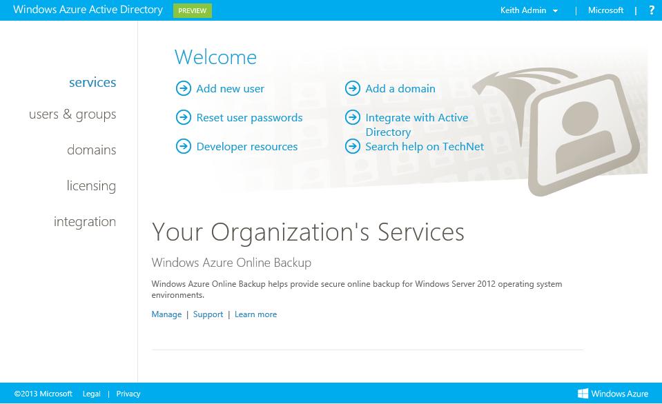 Übersicht über das Azure AD Verwaltungsportal