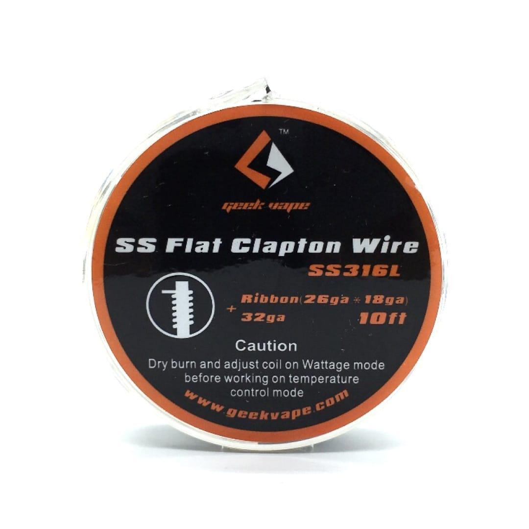 GeekVape Wickeldraht SS Flat Clapton Ribbon 26GAx18GA/32GA 3 Meter