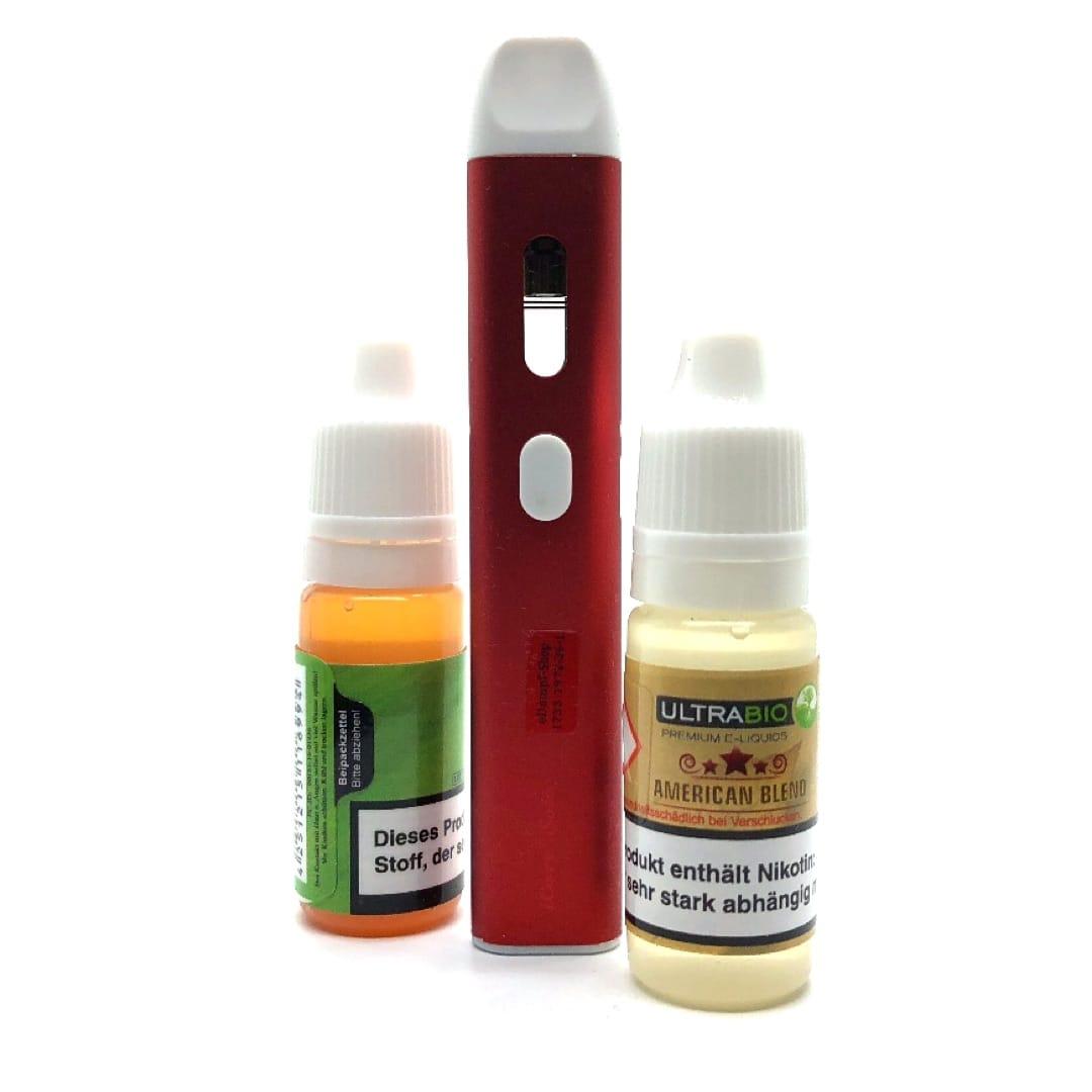 Geschenkset Eleaf iCare Solo rot mit 2 Ultrabio Liquids