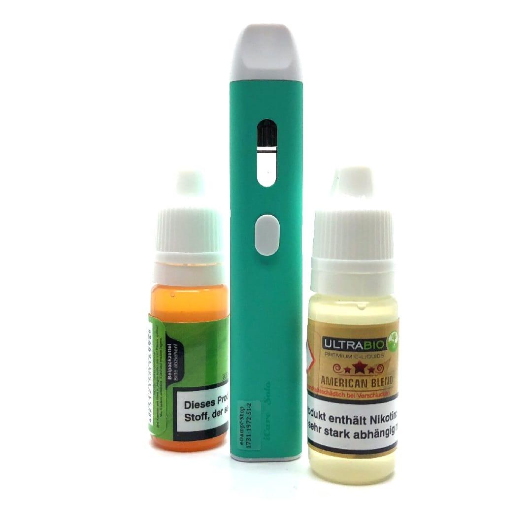 Geschenkset Eleaf iCare Solo cyan mit 2 Ultrabio Liquids