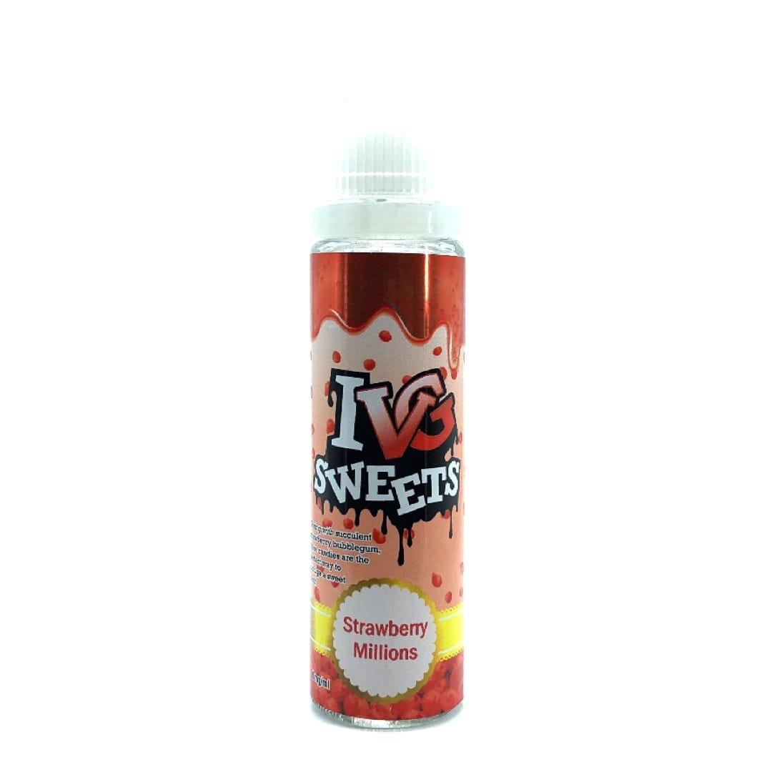 I VG Sweets Strawberry Millions Shortfill Liquid 50 ml für 60 ml