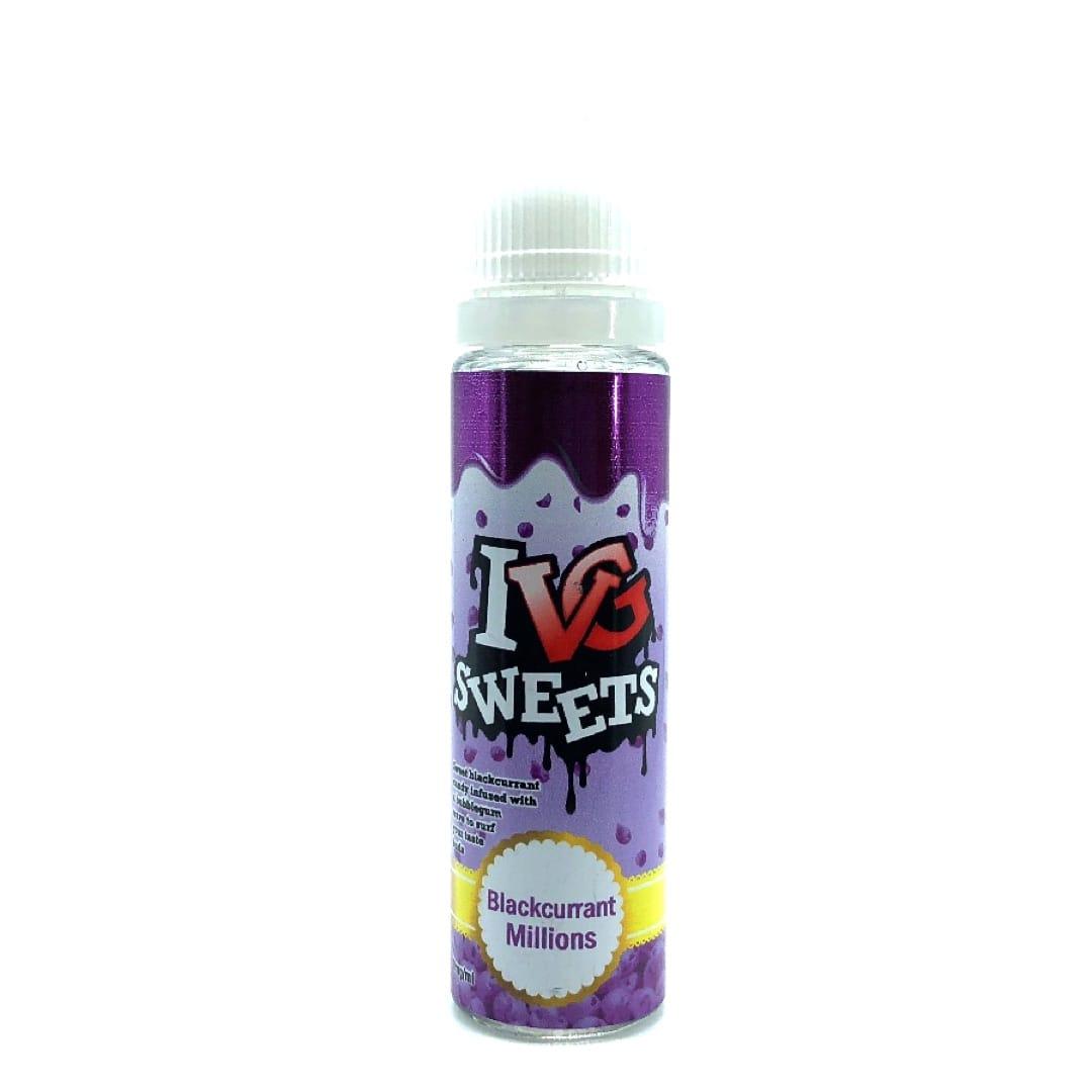 I VG Sweets Blackcurrant Millions Shortfill Liquid 50 ml für 60 ml