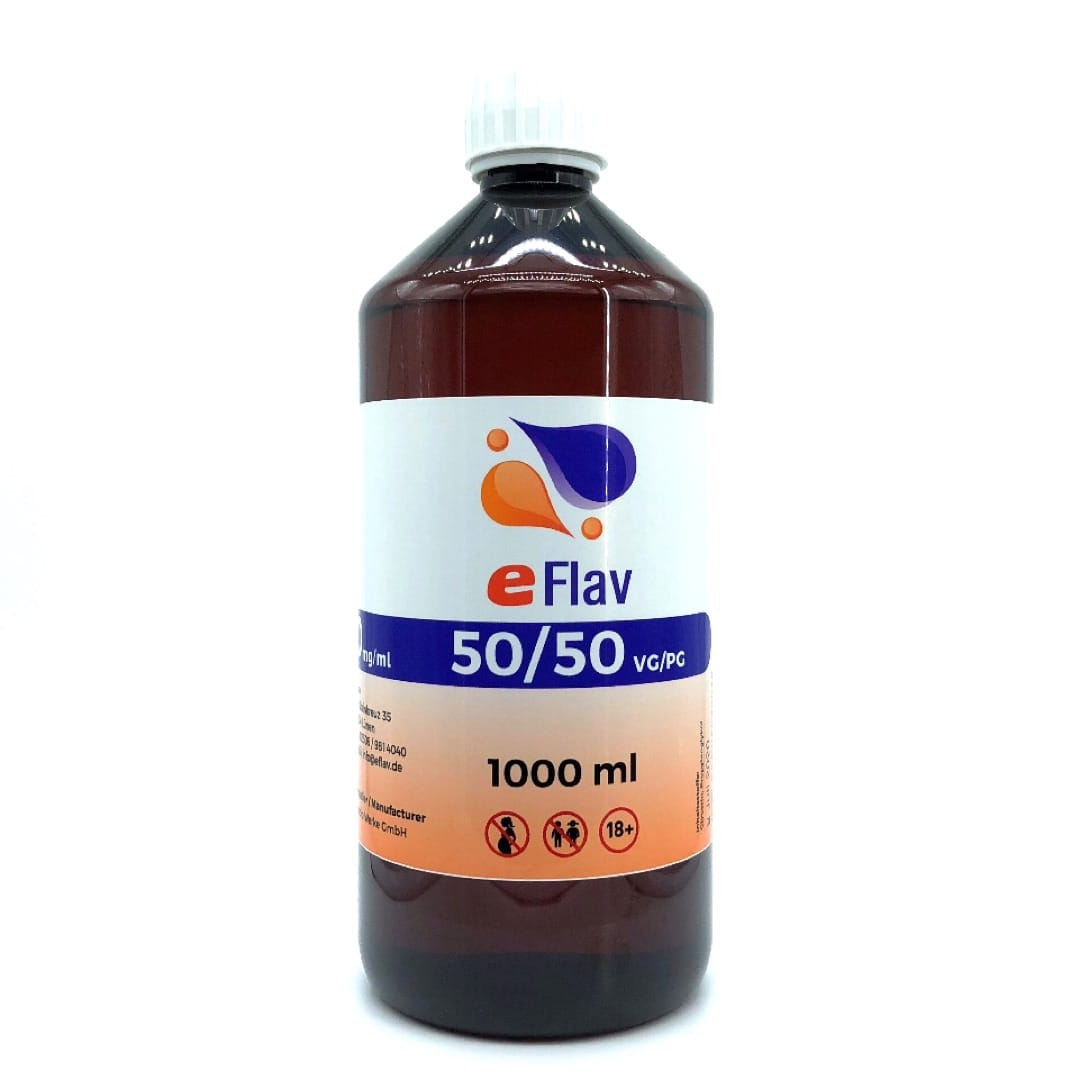 eFlav eLiquid Basis 1000 ml ohne Nikotin