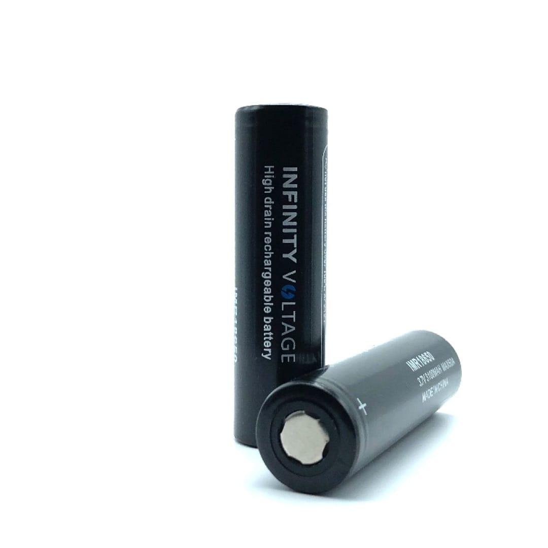 Infinity Voltage 18650er Li-Ion Akkuzelle 50 Ampere 3100 mAh 2er-Pack mit Box