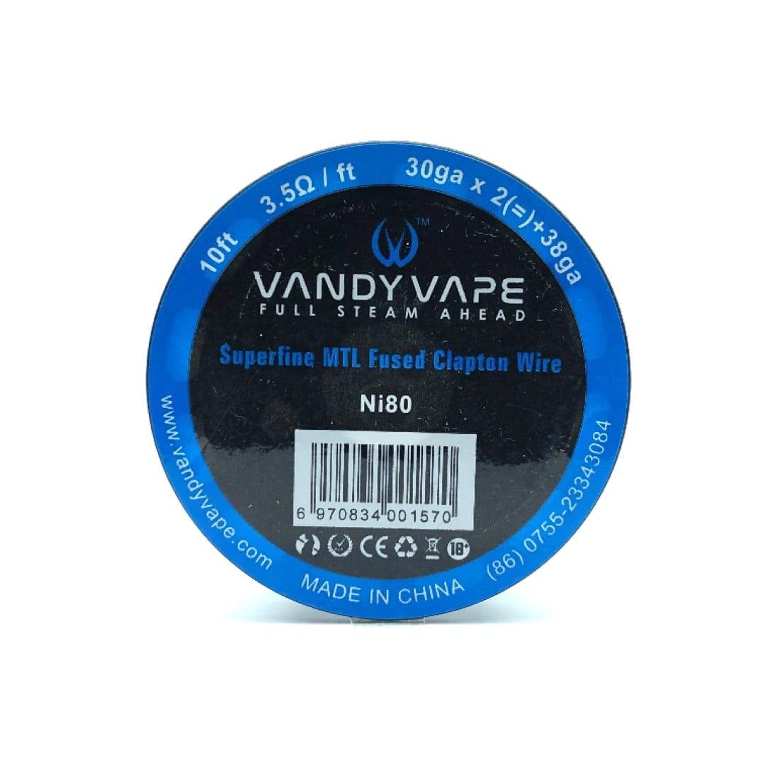Vandy Vape Superfine MTL Ni80 Fused Clapton 30GAx2 38GA