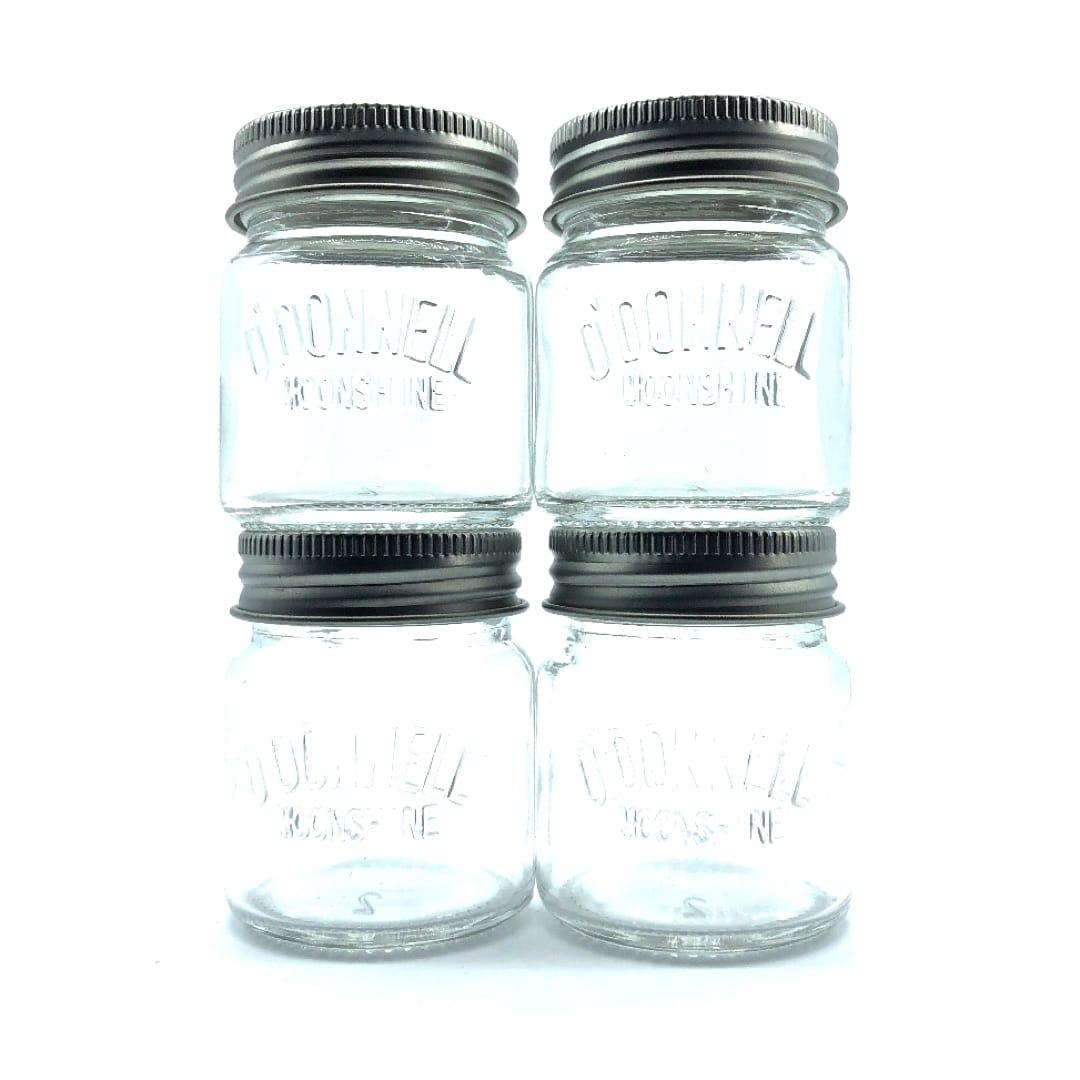 O`Donnell Moonshine Mason Jar Shotgläser 4 cl 4er Pack