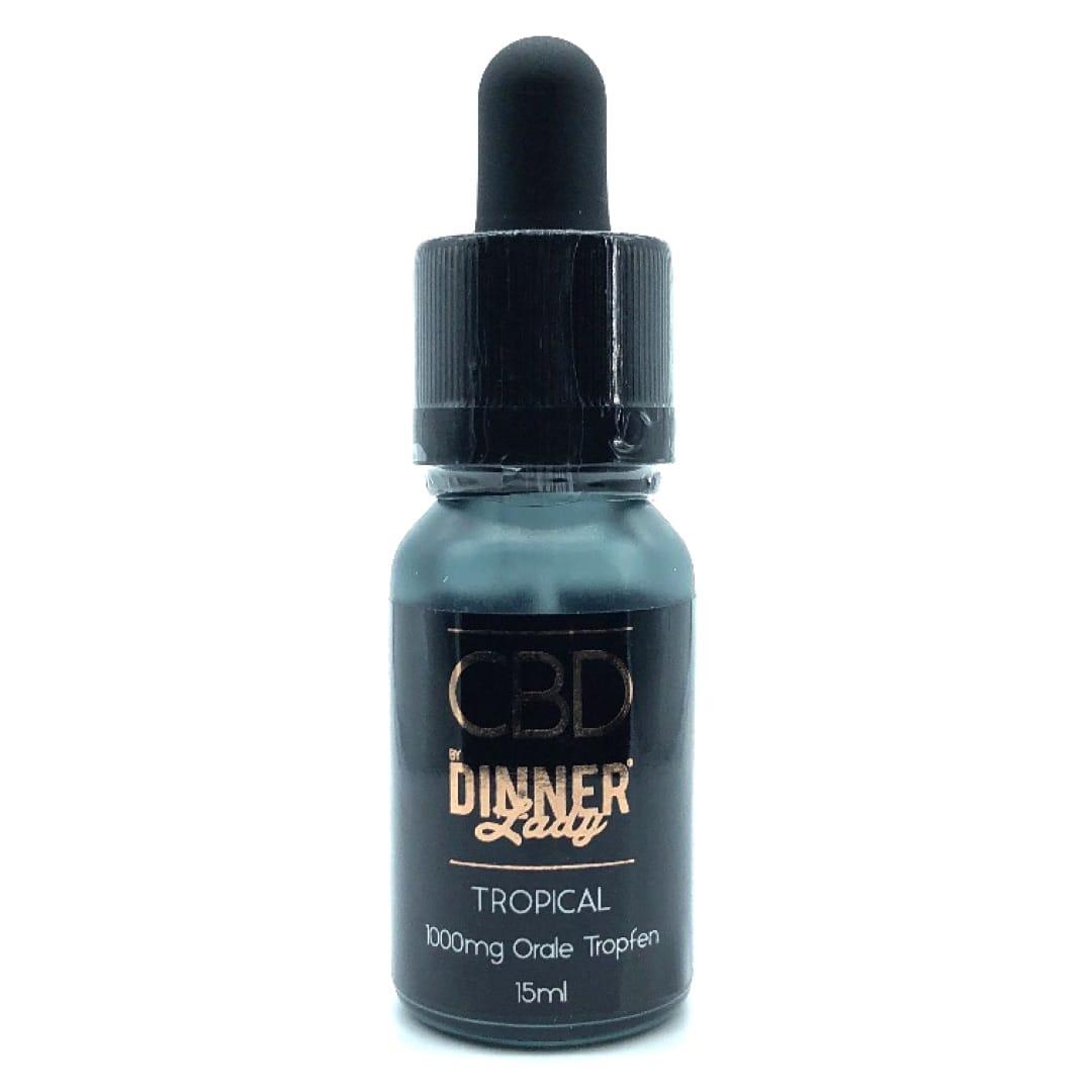 Dinner Lady CBD Oral Drops Tropical 1000 mg 15 ml
