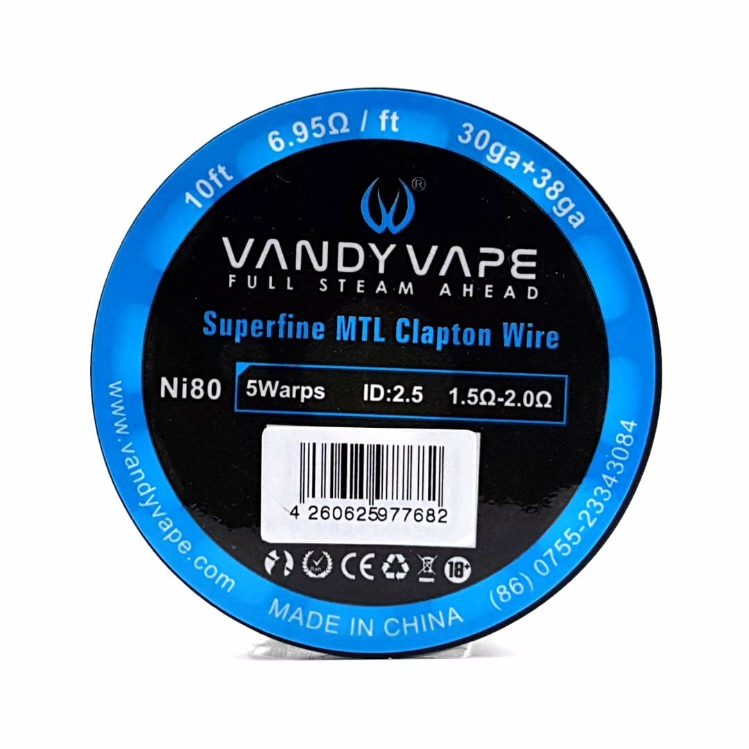 Vandy Vape Wickeldraht Ni80 Superfine MTL Clapton 30GA / 38GA 3 Meter
