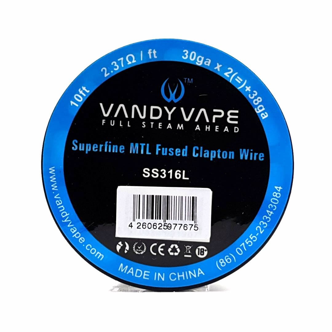Vandy Vape Wickeldraht SS316L Superfine MTL Fused Clapton 30GAx2 / 38GA 3 Meter