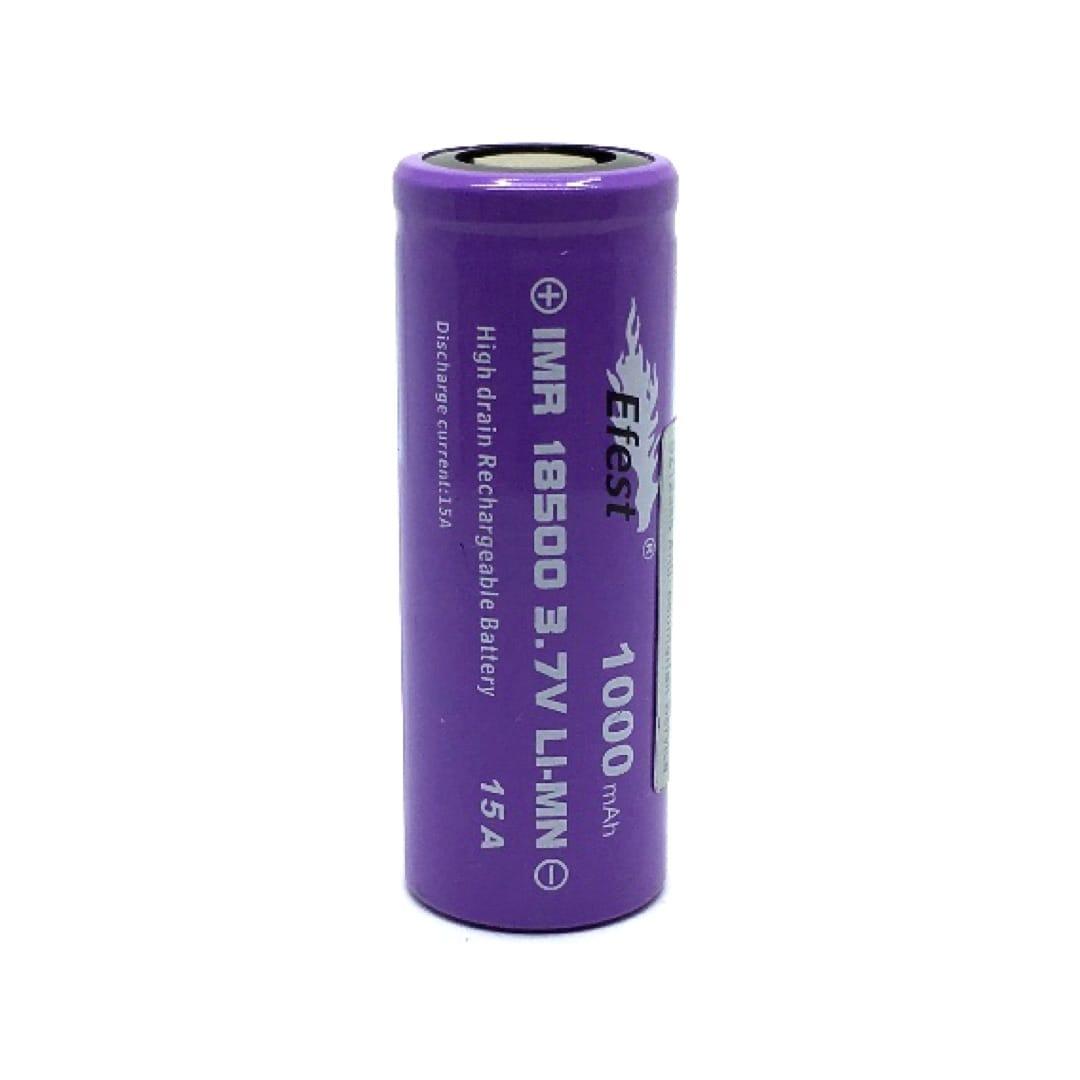 Efest IMR18500 18500er Li-Ion Akkuzelle 15 Ampere 1000 mAh