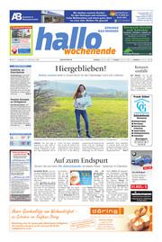 Hallo Wochenende, Ausgabe 201219 Seite, 1
