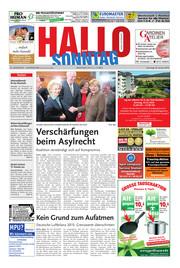 Hallo zum SONNTAG Hameln Ausgabe 004