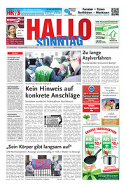 Hallo zum SONNTAG Hameln Ausgabe 005