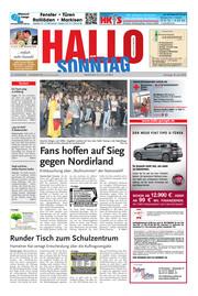 Hallo zum SONNTAG Hameln Ausgabe 024