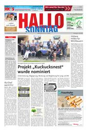 Hallo zum SONNTAG Hameln Ausgabe 026