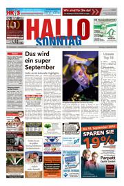 Hallo zum SONNTAG Hameln Ausgabe 035