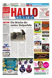 Hallo zum SONNTAG Hameln Ausgabe 049