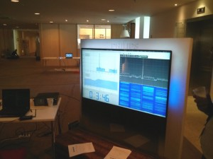 Photograph of the spectrum analyzer TV at the conference.