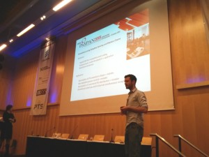 Justin talking about our solution on the last day of the conference.